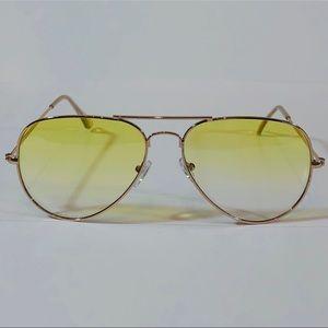 Other - Yellow Lens Aviator Sunglasses